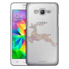 Samsung Grand Prime Rainbow Mosaic Prancing Reindeer Case