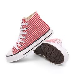 05095eb9bdf 2015 Autumn Style School Fashion Platforms Shoes Canvas Flat Lace-Up Solid  Gingham High Top Sneakers Women Causal Shoes Woman