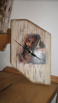 Photo printed on wood personalized clock