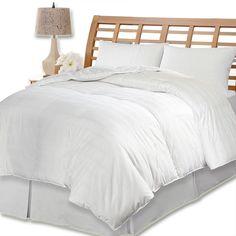Kathy Ireland 600 Thread Count European Goose Down Comforter, White