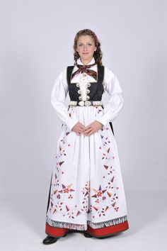 Aust-Agder Åmlibunad Folk Costume, Costumes, Hardanger Embroidery, Traditional Outfits, Norway, Rompers, Culture, Clothes, Beauty
