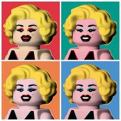 Marilyn Art Print by Powerpig - Marilyn Lego   | This image first pinned to Marilyn Monroe Art board, here: http://pinterest.com/fairbanksgrafix/marilyn-monroe-art/ || #Art #MarilynMonroe