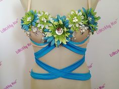 Custom Order for Virginia  Teal and Lime EDC costume by lilkittyko, $89.00