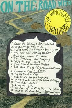Supernatural music. Song list.