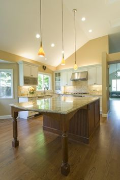 Kitchen Ideas Island t-shaped kitchen island with seating. the center island has a