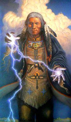AMERINDIAN CHAMAN......PARTAGE OF SACRED ART ON FACEBOOK.....