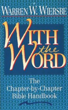 With the Word   -     By: Warren W. Wiersbe.  With the Word, a conversational survey of the Bible, guides you through each book, chapter by chapter, and encourages you to: Discover rich, life-changing applications fromthe Scriptures, Develop your own personal Bible reading program, Meditate on the Scriptures - seeking the truths God has for you, and to Apply the spiritual truths you discover. It is a fresh approach to learning and applying the truths God's Word has for your life.