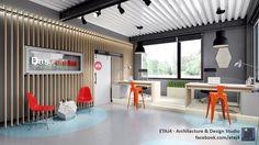 Interior design solution for the new office building of Das Fenster company in Cluj-Napoca, Romania // Design & visualization by ETAJ4