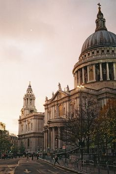 St Paul's, London - it's hard to get a good photo of St Paul's because it's so big, but this one comes close, like you're walking down the sidewalk to go inside.
