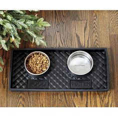 Quilted Rubber Pet Food Tray with Bowl By Ballard Designs