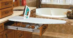 Pull-out ironing board ~~ genius