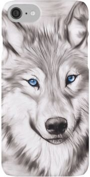"""""""Wolf"""" iPhone Case & Cover by Pencil Art Drawings, Art Drawings Sketches, Wolf Drawings, Realistic Animal Drawings, Horse Drawings, Wolf With Blue Eyes, Wolf Sketch, Wolf Artwork, Wolf Painting"""