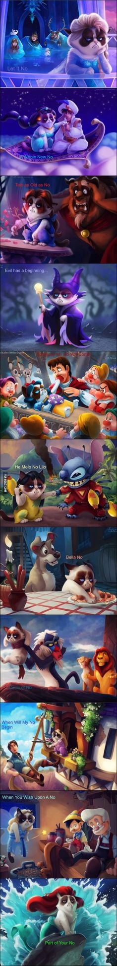 Grumpy Cat-Disney mashup- The Pinnochio one though. OMG.