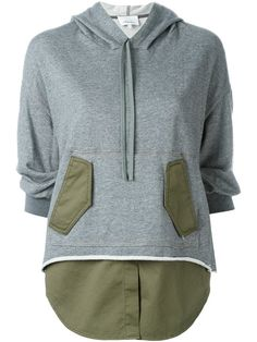 3.1 PHILLIP LIM Shirt Tail Sweatshirt. #3.1philliplim #cloth #sweatshirt
