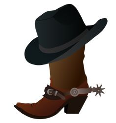 cowboy images clip art free cowboy boot with hat clip art clip rh pinterest com  cowboy boots pictures clip art free