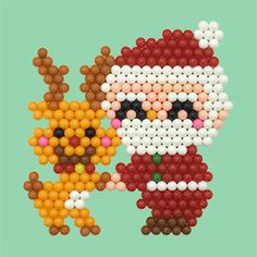 Xmas Crafts, Christmas Projects, Christmas Time, Christmas Cards, Crafts For Kids, Beaded Ornaments, Brick Stitch, Bead Art, Bead Weaving