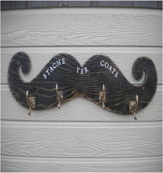 For the Mudroom   Movember: Changing the Face of Men's Health. Moustache coat hanger. #decor