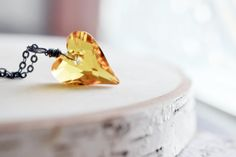 Fall Collection Golden Yellow Wild Heart by KimFong on Etsy, $26.00