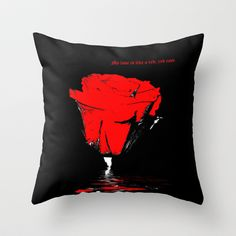 Rose Love Throw Pillow by inkedsandra - $20.00