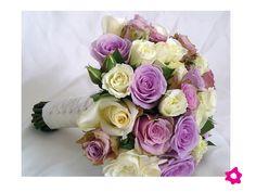 ramo novia rosas lila - Google Search