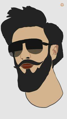Ranveer Singh #the_hipster Ranveer Singh Beard, Mr Beard, Man Smoking, Beard Grooming, Mobile Covers, Bollywood Actors, Pictures To Paint, Hot Boys, Caricature