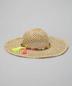 f60ffccb4882e1 Another great find on #zulily! Betsey Johnson Natural Rio Floppy Sunhat by Betsey  Johnson