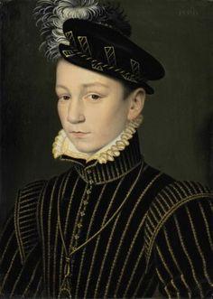 François Clouet (?Tours c. 1516-1572 Paris) Portrait of King Charles IX of France (1550-1574)