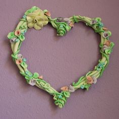 """""""Porcelain Heart Wreath"""" by Cecily Smith Maples   This high fire porcelain wreath was hand-built in the early 1990's. I was working out of a barn at the time."""