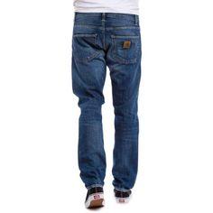 CARHARTT WIP Klondike jean Edgewood blue denim natural dark wash slim fit 89,00 € #skate #skateboard #skateboarding #streetshop #skateshop @playskateshop