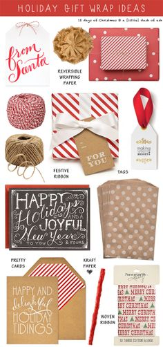Wrap it up in classic red and kraft paper!