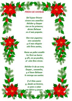 Preciosos poemas infantiles recopilados por internet para leer a los más peques. Preschool Christmas Activities, Christmas Worksheets, Spanish Activities, Thanksgiving Activities, Spanish Christmas, Spanish Holidays, Christmas Poems, Christmas Time, Mexican Christmas Traditions