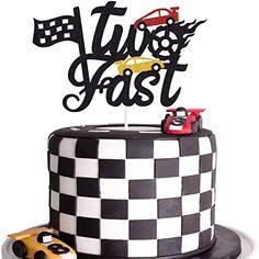 2nd Birthday Party For Boys, Race Car Birthday, Happy Birthday Cake Topper, Themed Birthday Cakes, Cars Birthday Parties, Birthday Cake Decorating, Birthday Ideas, Transportation Birthday, Baby Birthday