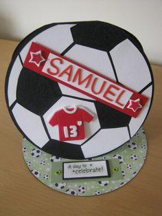 Football Easel card