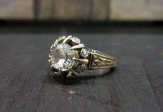 Victorian Old Mine Diamond 1.01ct Engagement Ring 14k c. 1890