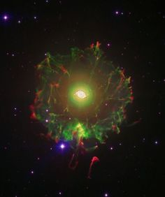 The Cat's Eye Nebula or NGC 6543 Credit D Lopez and R Barrena