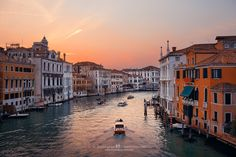 Canal Sunset, Venice, Italy - Canvas Prints: https://cityscapeprints.com | 微信公众号: BestCityscape .    Canal Sunset, Venice, Italy. A typical canal view turns different at sunset. The series came from my 8-night-stay project in this magical Italian city.