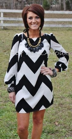 Chevolution Black and White Dress. I love everything about this - pretiffy