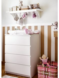 love the stripes behind the ikea dresser