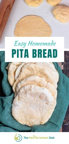 This recipe for Homemade Pita Bread is so easy! You will never buy store bought Pita Bread again. It goes with so many dishes, your family and friends will love this! #pitabread #homemadepitabread #breadrecipes Vegetarian Recipes Easy, Good Healthy Recipes, Clean Eating Recipes, Easy Recipes, Healthy Eating, Healthy Comfort Food, Healthy Meals For Kids, Quick Easy Meals, Homemade Pita Bread