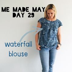 Me Made May: Day 29. A #naniiro Waterfall Blouse. #makeitperfectpatterns #waterfallblouse #mmmay15
