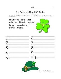 St. Patrick's Day Worksheets and Coloring Pages Pack freee 29 pages