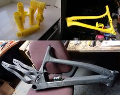 3D printed mountain bikes by Adrian Smith. Well... not exactly #3Dprinted , but made from molds that are.