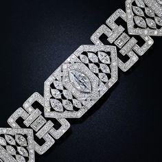Holy Mother!!!!! Platinum Diamond Art Deco Bracelet