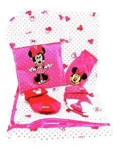 Disney Minnie Mouse Welcome Home Set for Baby,9 pc.Gown,Mittens,Beanie,Blanket+