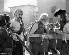 Saeed Jaffrey, Sean Connery, director John Huston (1906 - 1987), and Michael…