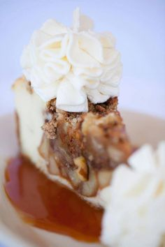 Dutch apple caramel streusel cheesecake at the cheesecake factory