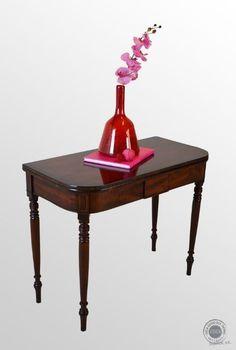 english game tables, antique   Antique English Folding Tea Games Sofa Card Table Mahogany Regency ...