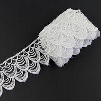 3 ярдов красивый белый кисточкой венеция кружевной отделкой полиэстер швейные костюм ремесло аппликация S10300B
