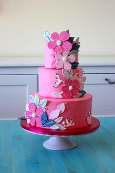 Pink moder-classic flowers by Anastasia Krylova