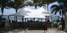 Caribbean shade sails, umbrellas and tensile canopies for resorts TensileSystems.com